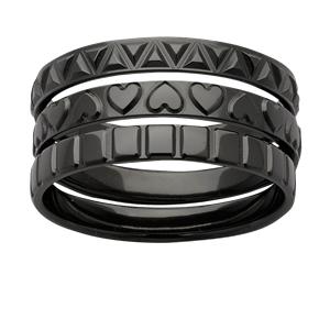 <p>Zirconium stacker rings</p>