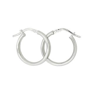 <p>9 Carat White Gold Sterling Silver Bonded Earrings</p>