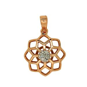 9ct Rose Gold Diamond Pendant