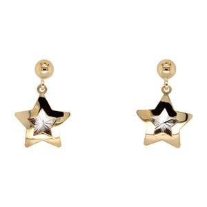 Star Stud Drop Earrings