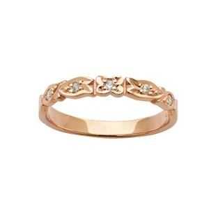 <p>Floral diamond ring in rose gold set with 5 x 70pc Round Brilliant Cut Diamonds. Total Diamond Weight 0.07ct</p>