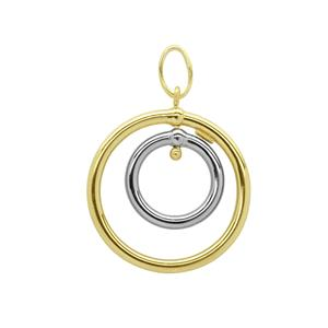 <p>9 carat yellow gold silver filled pendant</p>