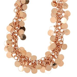 Sterling Silver, gold plated Bassano Collection Necklace. Made in Italy