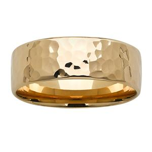 <p>8mm yellow gold hammered ring</p>