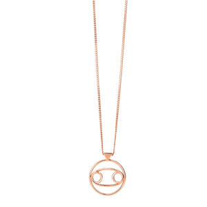 <p>Cancer necklace available in yellow gold, rose gold and sterling silver.</p>