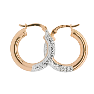 <p>Rhodium plated earrings</p>