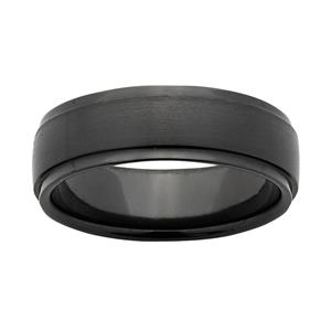 7mm ZiRO Ring, Sanded Top, Polished Edges