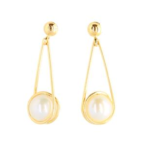 9 Carat Yellow Gold Earrings with Freshwater Pearls