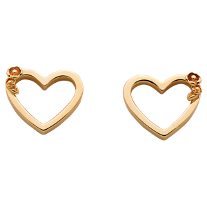 <p>Botanical Heart studs available in sterling silver, 9 carat yellow, white and red gold</p>