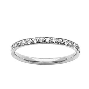 <p>Narrow Bead Set Diamond Ring</p>