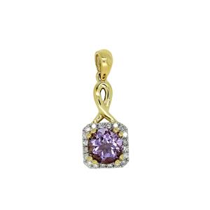 9ct Amethyst & Diamond Pendant