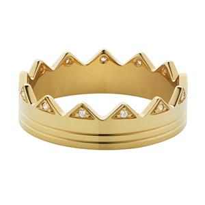 BY YOU ring with diamonds. Yellow Gold