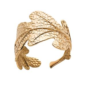 <p>Oak leaf ring</p>