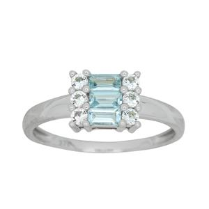 9ct White Gold Topaz Ring
