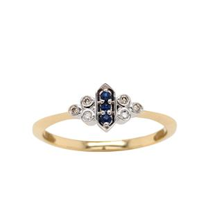 <p>9ct Yellow Gold Ring, Total Diamond Weight 0.045ct</p>