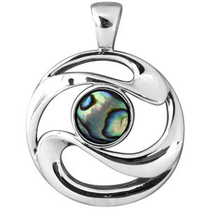 <p>Stylised Aua (Fish eye) with tough leather cord.&nbsp;</p> <p>&nbsp;</p> <p>Comes with individual information card and wooden display box</p>