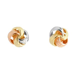 9 Carat Trigold Knot Earrings
