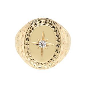 <p>Large Diamond Signet Ring</p>