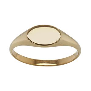 <p>Horizontal Oval Signet Ring</p>