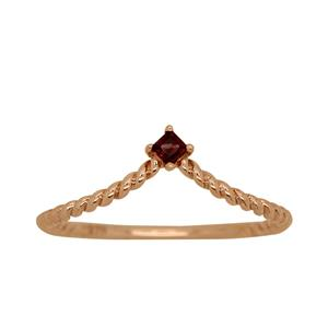 9ct Rose Gold, Rhodolite Garnet Ring