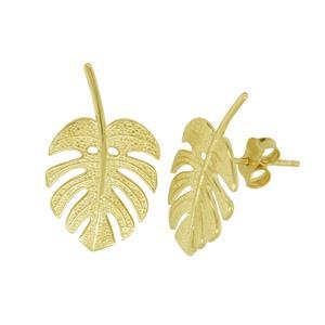 9ct Leaf stud Earrings