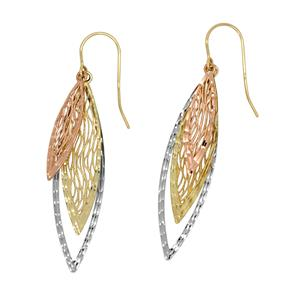 <p> 9 Carat Tri Gold Earrings</p>