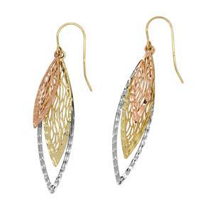 <p>9 Carat Tri Gold Earrings</p>