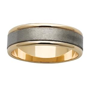 <p>Popular gold and titanium ring</p>