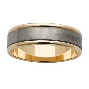 <p>Popular gold and titanium ring</p>