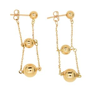 9 Carat Yellow Gold Earrings
