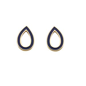 <p>Capsule dark blue enamel studs</p>