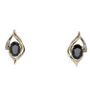 Sapphire and Diamond Earrings. Matches IP1095