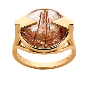 <p>Available in 9 carat yellow, rose gold and sterling silver with rutilated quartz</p>