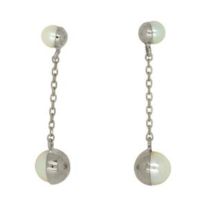 9 Carat White Gold Earrings with Freshwater Pearls