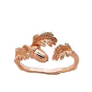 <p>Acorn and leaf ring</p>