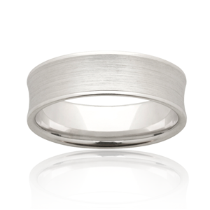 <p>Concave mens band with sanded centre and polished edges</p>