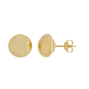 <p>8mm Flat Stud Earrings</p>
