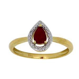 <p> 9 Carat Yellow Gold Ruby and Diamond Ring</p>