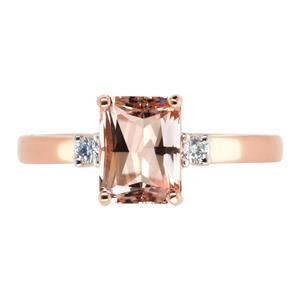 <p>Emerald Cut Moranite Ring with Diamonds.</p>