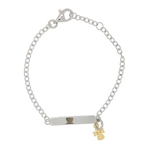 <p>Sterling Silver and 9 Carat Yellow Gold Bracelet</p>