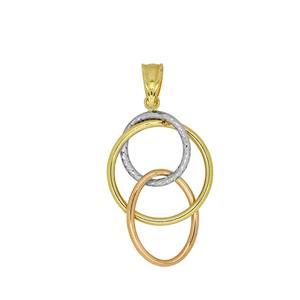 9 Carat Tri-gold Pendant