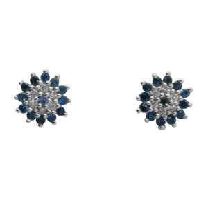 <p>Sapphire and Diamond earring</p>