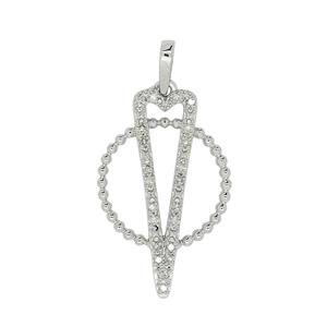 9ct White Gold Diamond Pendants