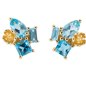 <p>&nbsp;Rock Garden Earrings - Topaz</p>