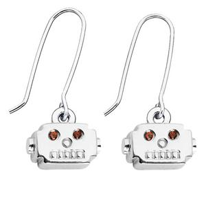 ROBOT HEAD EARRINGS.4X1.25MM G