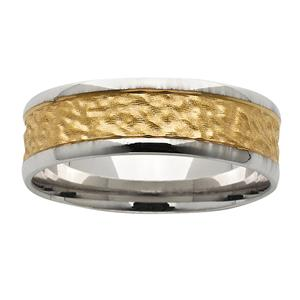 <p>White &amp; Yellow gold nugget ring</p>