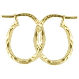 9ct silver filled 9Y Earrings, 9x13mm oval & 2mm width