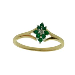 <p>Emerald and diamond ring</p>