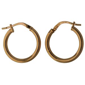 <p>9ct silver filled 9CT ROSE Earrings, 15mm diameter &amp; 2mm width</p>