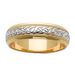 <p>Two-toned Celtic ring</p>